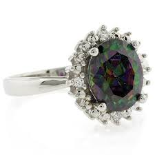 topaz engagement ring mystic topaz engagement ring silverbestbuy