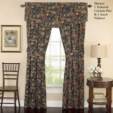 Waverly Window Valances by Rhapsody Gold And Midnight Blue Comforter Bedding By Waverly