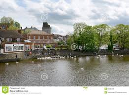 quaint riverside town of windsor england editorial photography