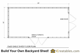 shed floor plan 10x20 gable shed plans icreatables sheds