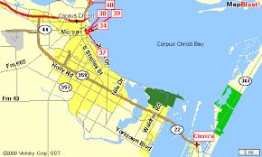 map of corpus christi corpus christi accommodations saltwater and freshwater