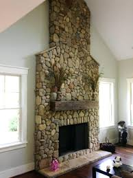 river rock fireplace decorating ideas images outdoor designs