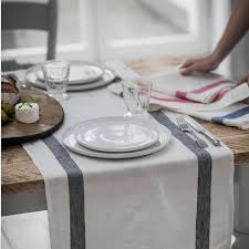 table runner charcoal stripe linen table runner by the linen works