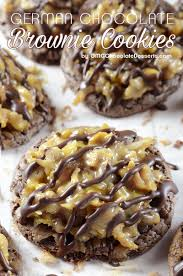 german chocolate brownie cookies omg chocolate desserts