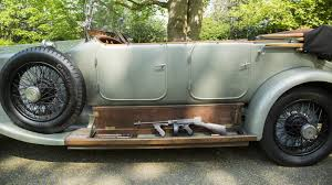 antique rolls royce classic rolls royce silver ghost comes with hidden submachine gun