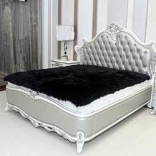 popular black fur rug buy cheap black fur rug lots from china