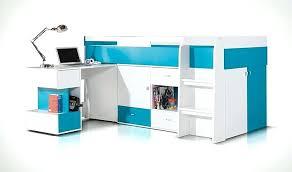 lit enfant mezzanine avec bureau lit bureau pas cher lit enfant haut bleu et blanc avec bureau
