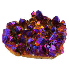 geode box amazon com rockcloud natural titanium coated crystal quartz