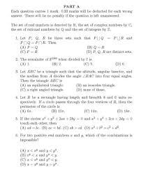 m sc maths entrance exam question paper 2017 2018 student forum