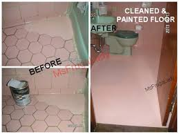Painting A Bathroom Floor - no cleaners would whiten my