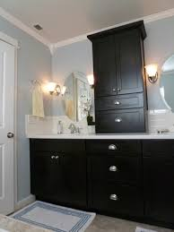 Painting A Bathroom Vanity Before And After by Black Painted Bathroom Vanity Black Painted Bathroom Vanity Tsc