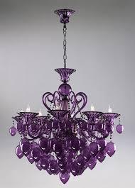 Ebay Chandelier Crystal Retro Glamour Purple Glass Chandelier Horchow 8 Light Violet