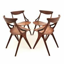danish design teak dining chairs by arne hovmand olsen for mogens