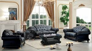 Black Leather Living Room Furniture Sets Versace Living Room Set Black Leather Living Room Set