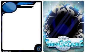 stitch to the cosmos card template by haisai dbarenzu on deviantart