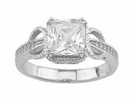 unique princess cut engagement rings unique cubic zirconia 2 carat princess cut engagement ring