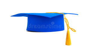 blue graduation cap blue graduation cap with gold tassel stock images image 37972944
