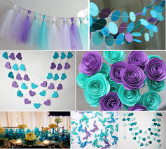 Purple Wedding Decorations Decor Blue And Purple Wedding Decoration Ideas Patio Basement