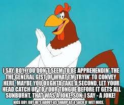 Rooster Jokes Meme - that s a joke son reaction images know your meme