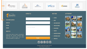Real Estate Template Websites by World Property Responsive Real Estate Website Template