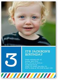 rainbow striped boy 5x7 photo card birthday invite shutterfly