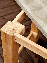 Build Wooden Patio Furniture by Best 25 Concrete Outdoor Table Ideas On Pinterest Concrete