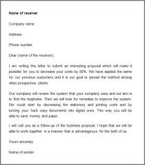 business proposal letter business proposal letter template