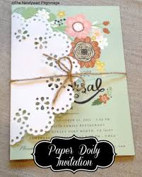 paper invitations paper doily placemats place setting and invitation