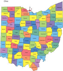 ohio on the map of usa map of ohio counties ohio map with counties with 423 x 476 map