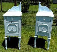 Repainting The Vanity Painted Upcycled Antique Vanity Nightstands Antique Vanity