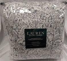 Tan And Black Comforter Sets Amazon Com Ralph Lauren Provencal Damask Gray Queen 4 Piece