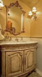 Tuscan Bathroom Vanity by A Magnificent Mediterranean Villa With A Main Level Master Suite