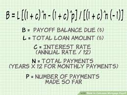 Estimate Mortgage Loan Amount by How To Calculate Mortgage Payoff 9 Steps With Pictures
