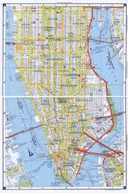 manhattan on map large detailed road map of south manhattan nyc vidiani