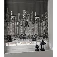 Kitchen Roller Blinds 4ft New York Skyline Roller Blind Amazon Co Uk Kitchen U0026 Home