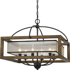 Iron And Wood Chandelier Cal Fx 3536 6 Mission Wood Chandelier Light Cal Fx 3536 6