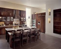 decorating charming brown kraftmaid cabinets with silver handle