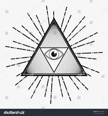 all seeing eye magical element eye stock vector 275381552