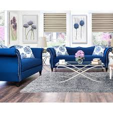 blue living room set furniture of america othello 2 piece sofa set royal blue living