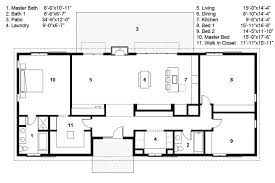 ranch style floor plans ranch style house plan 3 beds 2 00 baths 2040 sq ft plan 497 50