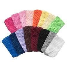 crochet headbands 2 75 medium crochet headbands 16 colors elastic by the yard