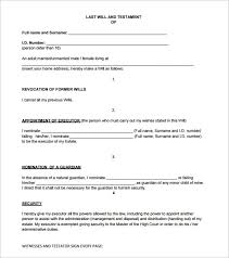 sample will form u2013 13 free samples examples format