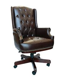 Leather Captains Chairs Luxury Managers Directors Chesterfield Antique Captain Style