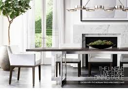 The Morgan Dining Room Restoration Hardware The Art Of Shagreen Rich Texture In Luxe