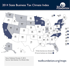What State Is Washington Dc In Map by Map Of The 2014 State Business Tax Climate Index Tax Foundation