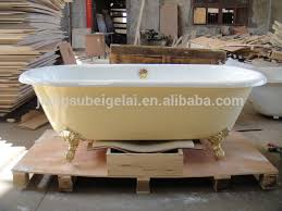Bathtub Cast Iron Freestanding Cast Iron Bath With Stainless Steel Panel In Mirro