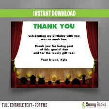 muppets birthday thank you cards instant and edit with