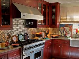 kitchen beautiful kitchen with red kitchen cabinets gold colors