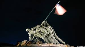 Soldiers Lifting Flag Raising The Flag On Iwo Jima Walldevil