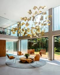Interior Design Sitting Room Interior Charming Brazilian Style Interior With Round Grey Area